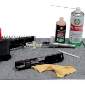 waffenunterlage-waffenpflege-waffenreinigung-balistol-vfg-gunex-reinigungsmatte-filz-kurzwaffe-beispiel
